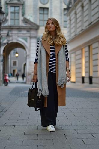 Stripes & long Vest