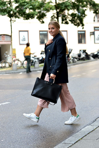 Saturday Look: about pink culottes & autumn blazers